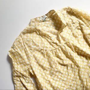 Banana Republic• yellow honeycomb tunic top